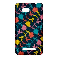 Colorful Floral Pattern HTC One SU T528W Hardshell Case