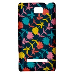 Colorful Floral Pattern HTC 8S Hardshell Case