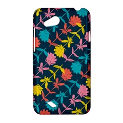 Colorful Floral Pattern HTC Desire VC (T328D) Hardshell Case