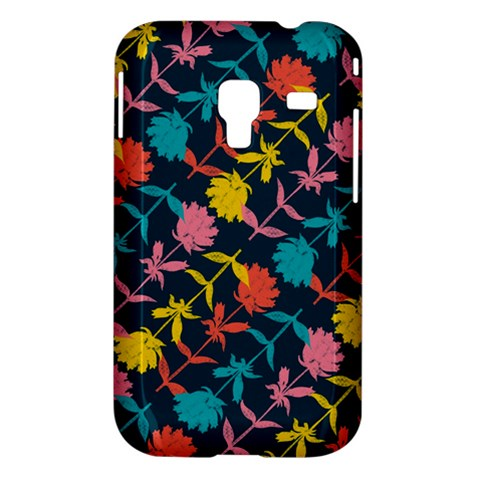 Colorful Floral Pattern Samsung Galaxy Ace Plus S7500 Hardshell Case