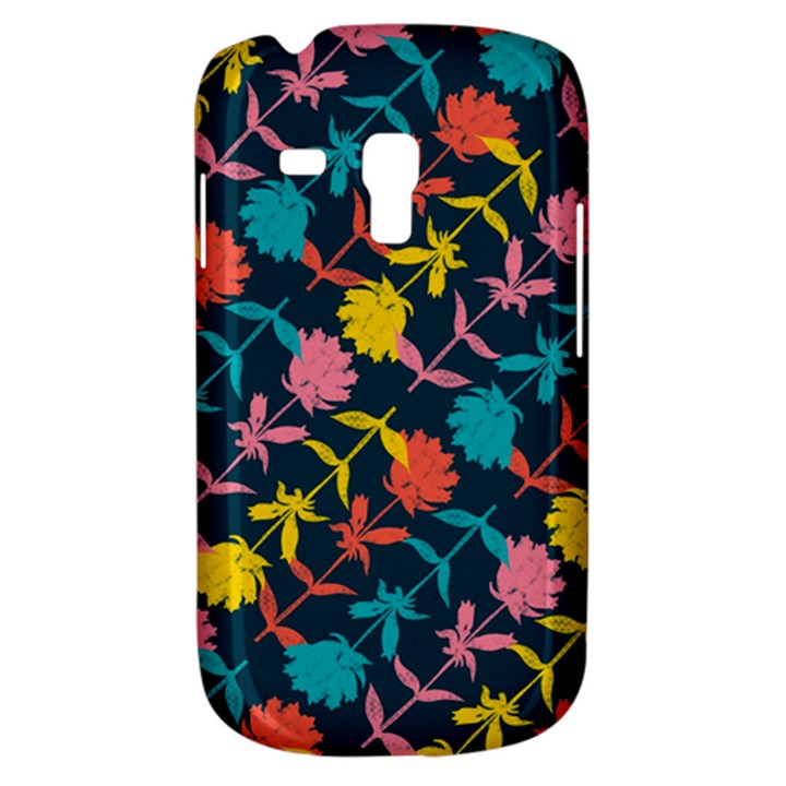 Colorful Floral Pattern Samsung Galaxy S3 MINI I8190 Hardshell Case