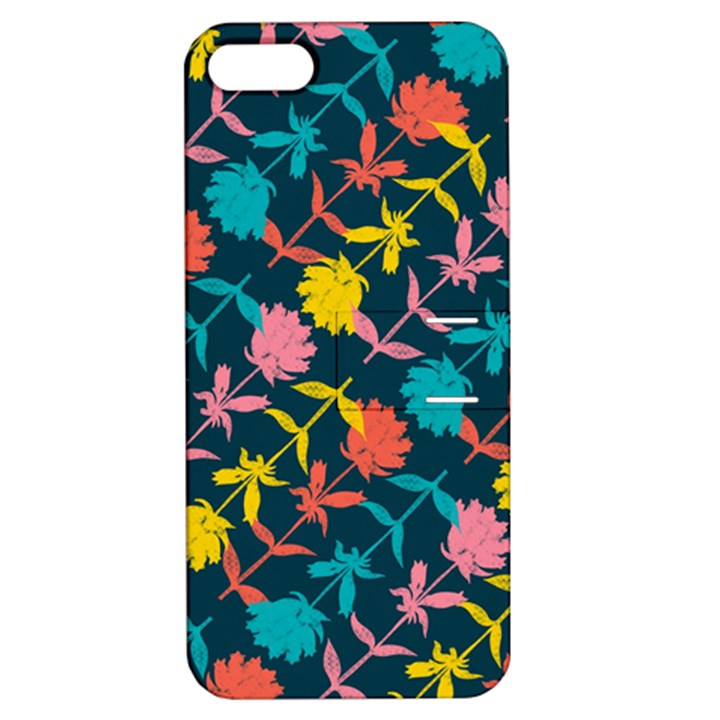 Colorful Floral Pattern Apple iPhone 5 Hardshell Case with Stand