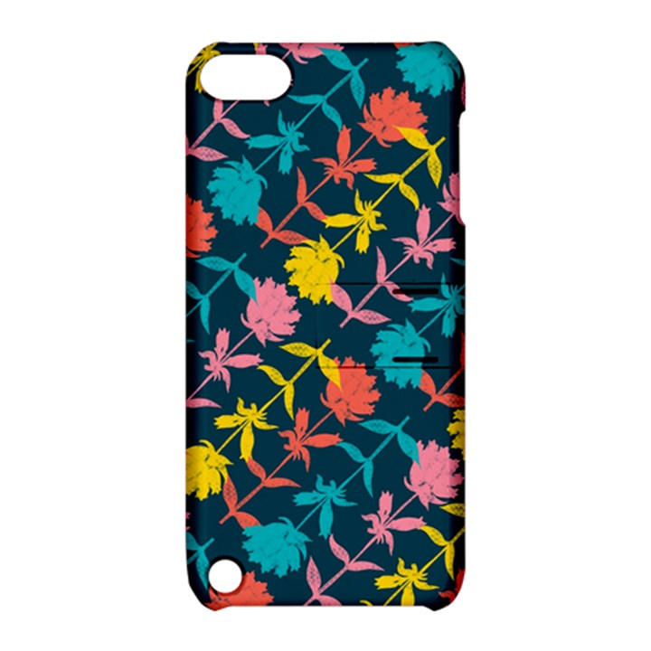 Colorful Floral Pattern Apple iPod Touch 5 Hardshell Case with Stand