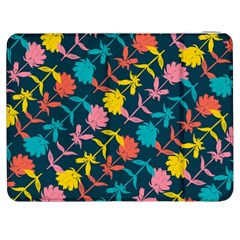 Colorful Floral Pattern Samsung Galaxy Tab 7  P1000 Flip Case