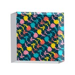 Colorful Floral Pattern 4 x 4  Acrylic Photo Blocks Front