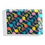 Colorful Floral Pattern 4 x 6  Acrylic Photo Blocks Front