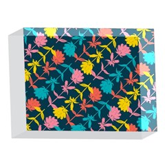 Colorful Floral Pattern 5 x 7  Acrylic Photo Blocks