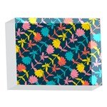 Colorful Floral Pattern 5 x 7  Acrylic Photo Blocks Front