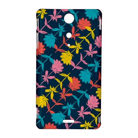 Colorful Floral Pattern Sony Xperia TX