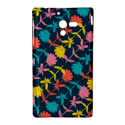 Colorful Floral Pattern Sony Xperia ZL (L35H)