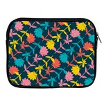Colorful Floral Pattern Apple iPad 2/3/4 Zipper Cases Front