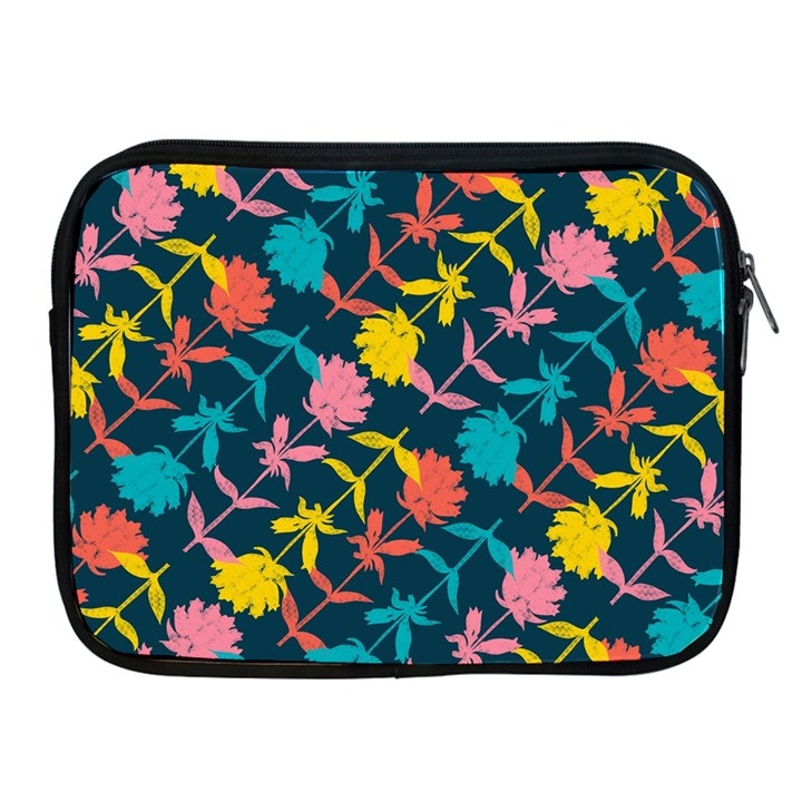 Colorful Floral Pattern Apple iPad 2/3/4 Zipper Cases