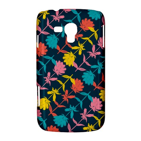 Colorful Floral Pattern Samsung Galaxy Duos I8262 Hardshell Case