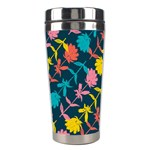Colorful Floral Pattern Stainless Steel Travel Tumblers Left