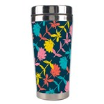 Colorful Floral Pattern Stainless Steel Travel Tumblers Center