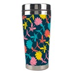 Colorful Floral Pattern Stainless Steel Travel Tumblers Right