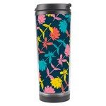 Colorful Floral Pattern Travel Tumbler Left