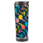 Colorful Floral Pattern Travel Tumbler Center