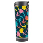 Colorful Floral Pattern Travel Tumbler Right