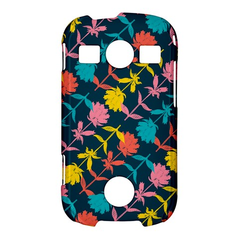 Colorful Floral Pattern Samsung Galaxy S7710 Xcover 2 Hardshell Case