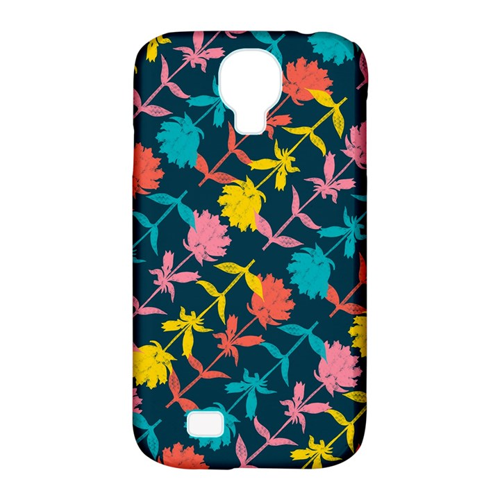 Colorful Floral Pattern Samsung Galaxy S4 Classic Hardshell Case (PC+Silicone)