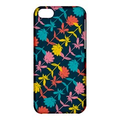 Colorful Floral Pattern Apple iPhone 5C Hardshell Case