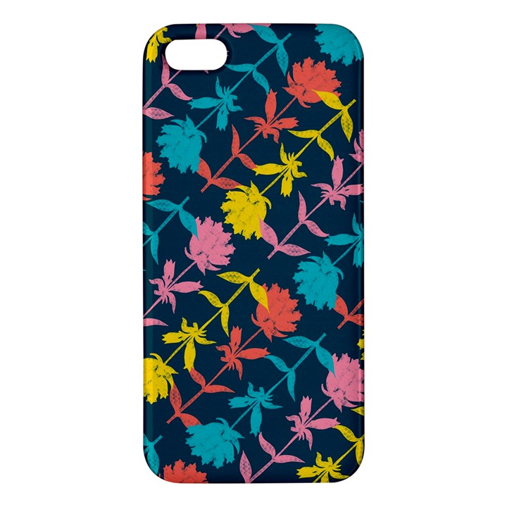Colorful Floral Pattern iPhone 5S/ SE Premium Hardshell Case
