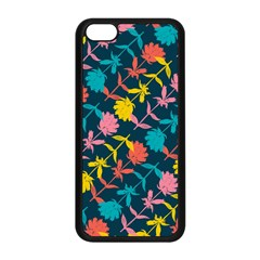 Colorful Floral Pattern Apple iPhone 5C Seamless Case (Black)