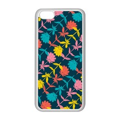 Colorful Floral Pattern Apple Iphone 5c Seamless Case (white)
