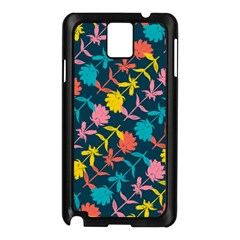 Colorful Floral Pattern Samsung Galaxy Note 3 N9005 Case (Black)