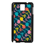 Colorful Floral Pattern Samsung Galaxy Note 3 N9005 Case (Black) Front