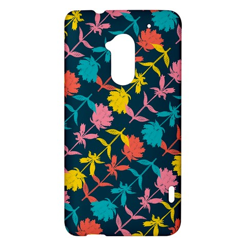 Colorful Floral Pattern HTC One Max (T6) Hardshell Case