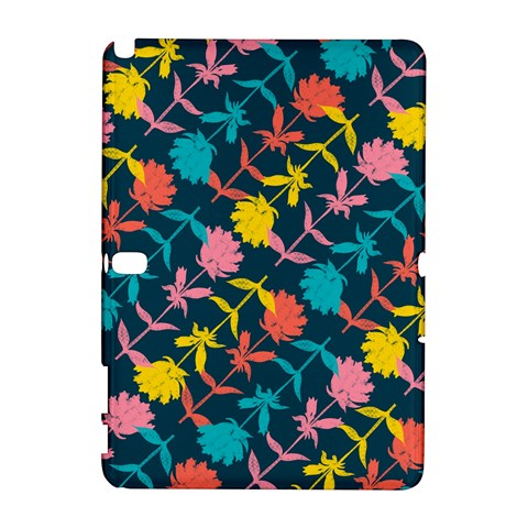 Colorful Floral Pattern Samsung Galaxy Note 10.1 (P600) Hardshell Case