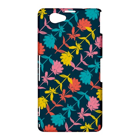 Colorful Floral Pattern Sony Xperia Z1 Compact