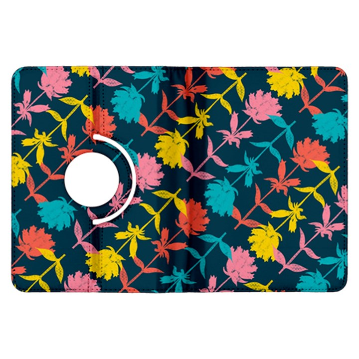 Colorful Floral Pattern Kindle Fire HDX Flip 360 Case