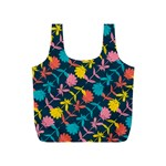 Colorful Floral Pattern Full Print Recycle Bags (S)  Back