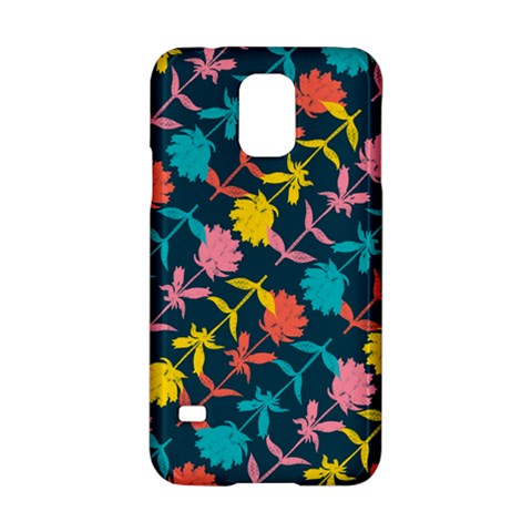 Colorful Floral Pattern Samsung Galaxy S5 Hardshell Case