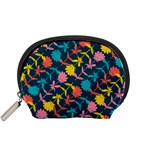 Colorful Floral Pattern Accessory Pouches (Small)  Front