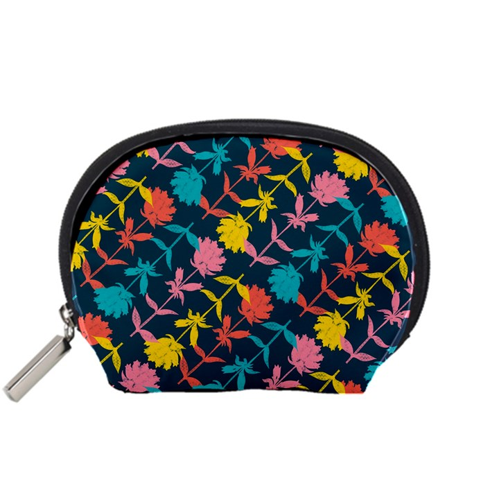 Colorful Floral Pattern Accessory Pouches (Small)