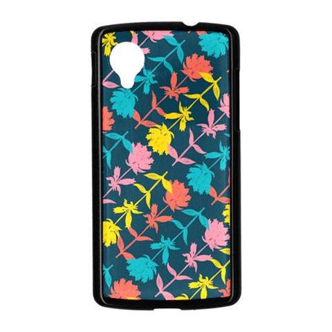 Colorful Floral Pattern Nexus 5 Case (Black)