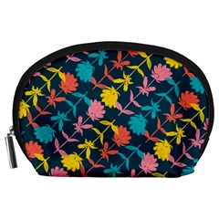 Colorful Floral Pattern Accessory Pouches (Large)