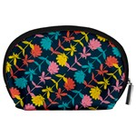Colorful Floral Pattern Accessory Pouches (Large)  Back