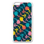 Colorful Floral Pattern Apple iPhone 6 Plus/6S Plus Enamel White Case Front