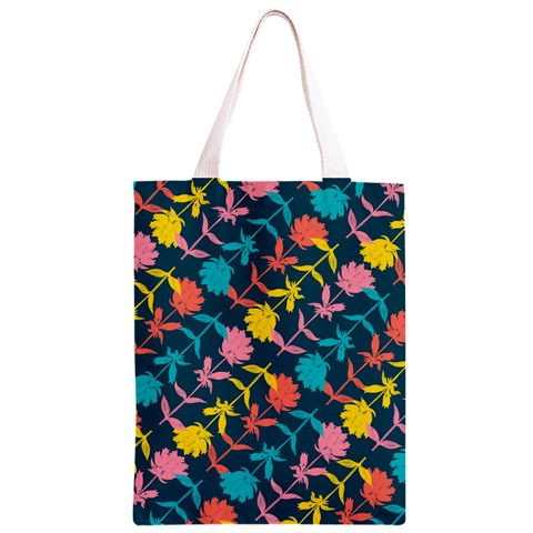 Colorful Floral Pattern Classic Light Tote Bag