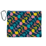 Colorful Floral Pattern Canvas Cosmetic Bag (XL) Front