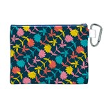 Colorful Floral Pattern Canvas Cosmetic Bag (XL) Back