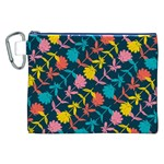Colorful Floral Pattern Canvas Cosmetic Bag (XXL) Front