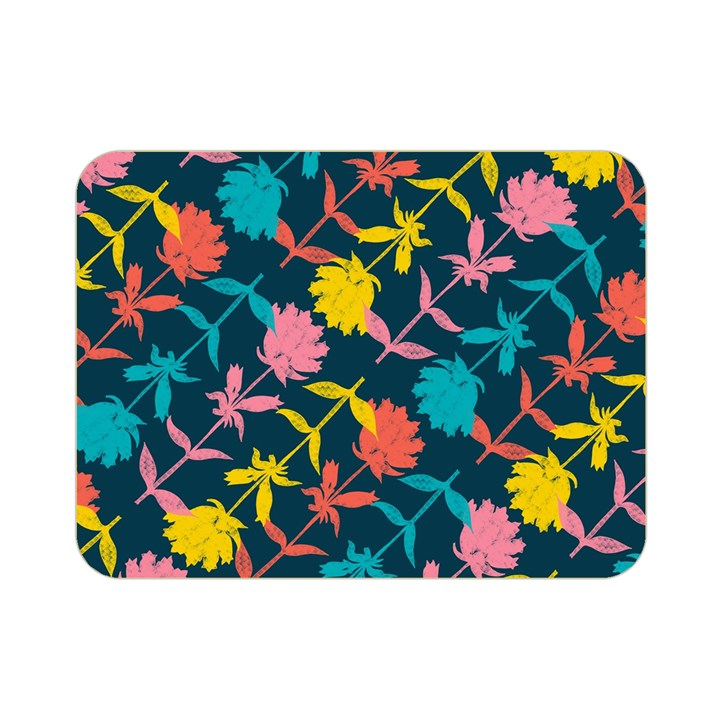 Colorful Floral Pattern Double Sided Flano Blanket (Mini)