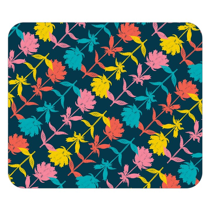 Colorful Floral Pattern Double Sided Flano Blanket (Small)