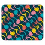 Colorful Floral Pattern Double Sided Flano Blanket (Small)  50 x40 Blanket Back